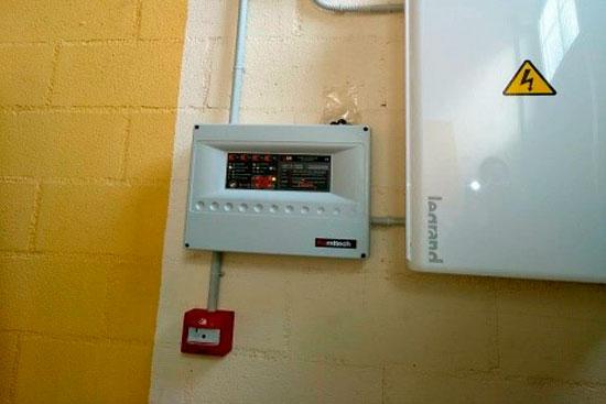 instalación de sistema contra incendios