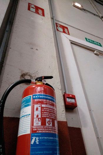 sistema contra incendios en Alcalá